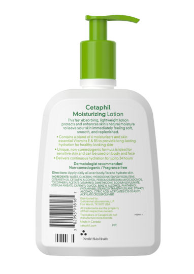 Cetaphil Moisturizing Lotion 16 oz - BACK